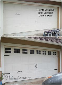 Did you remember to shut the garage door? Most smart garage door openers tell you if it's open or shut no matter where you are. A new garage door can boost your curb appeal and the value of your home. Garage Makeover, House, Remodel, Garage Decor, Garage Door Makeover, Garage Work Bench, Carriage Garage Doors, Door Makeover, Garage House