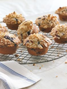 Blueberry Muffins With Almond Streusel Recipe (Williams-Sonoma Blog), batter made with buttermilk