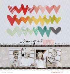 Studio Calico Sugar Rush February Kit...additional hearts traced on pattern paper
