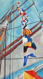 Nautic flag painting