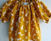 yellow circle baby blouse