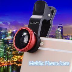 Universal Fisheye Lens 3 in 1 Mobile Phone Clip Lenses Fish Eye Wide Angle Macro Camera Lens for Smartphone iPhone 6 Microscope #Affiliate