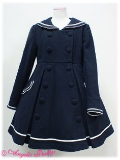 Angelic Pretty sailor coat, I'd like to make something similar to this.