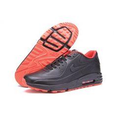 buy popular 4da05 688b7 Nike Air Max 90 Noir Rouge Cuir Pas Cher Chaussure Nike Air, Chaussures Nike ,