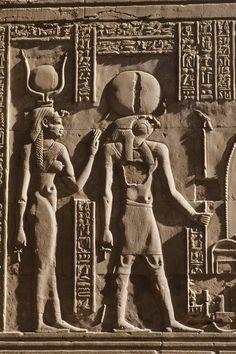 HORUS AND HATHOR -Schenti and a woman's sheath dress. as well as Uraeus.