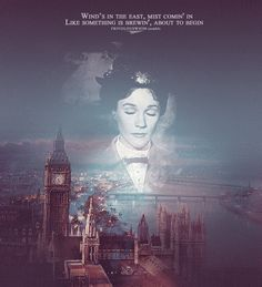 Mary Poppins, beautiful poster of opening Mary Poppins sequence.