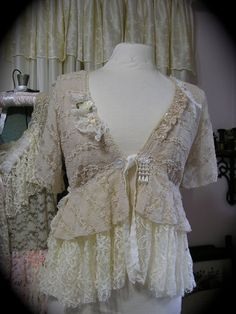 romantic creme lace top I want this one, it's beautiful.