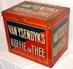 vintage  blik, van ysendyk's koffie en thee