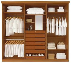 Moderna walk in closet, diseño de vestuario en Armarios de Muebles ... #diseñodeinteriorescasas