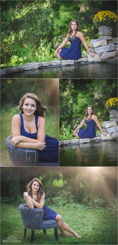 Outdoor garden senior pictures by Britt Lanicek Photography Senior Photo Outfits, Senior Portraits, Senior Pictures, Photo Tips, Photo Poses, Sitting Pose Reference, Graduation Photography, Sitting Poses, Boudoir Poses