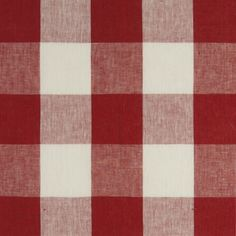 Buffalo Check Fabric in Red Gingham Fabric, Red Fabric, Linen Fabric, Red Gingham, Blind, Checker Wallpaper, Buffalo Check Fabric, Red Cottage, Traditional Fabric