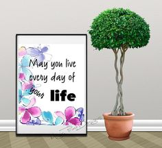 Lifebe happy love moreengoy large dream by MagicPrintDesigns