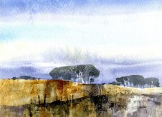 Paul Bailey | Distant trees | Watercolour 9 x 6.5 inches 2011