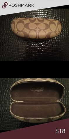 "Like new Coach eyeglasses case . Authentic Couch glasses case brown , like new condition .6,5""x3"" Coach Accessories Sunglasses"