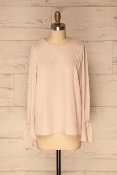 Tripotama Blush Pink Bell Sleeves Top | La Petite Garçonne Chpt. 2