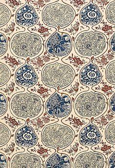 """Katsugi"" indigo & cinnabar /  Schumacher Fabric /  Fabric SKU - 2620933 Repeat - Straight Width - 54"" Horizontal Repeat - 26.75"" Vertical Repeat - 24.75"" Fabric Content - 60% Linen / 40% Cotton"