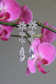Sparkle filled cz earrings cubic zirconia earrings by terihuang