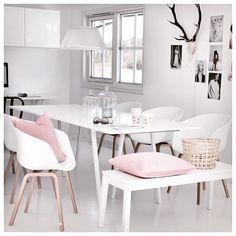 Dining Room Inspiration: 10 Scandinavian Dining Room Ideas You'll Love Dining Room Lamps, Dining Room Storage, Dining Room Bench, Dining Room Lighting, Dining Room Design, Dining Rooms, Dining Room Inspiration, Room Decor, Interior Design