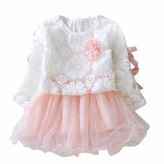 2016 Sring младенца лета платья девушки европейском стиле Цветочные с бантом Симпатичные принцесса Туту платье Дети малышей Девочка Платье Infantil