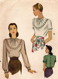 Vintage 1945 McCall 6058 Sewing Pattern Misses' by midvalecottage, $14.00