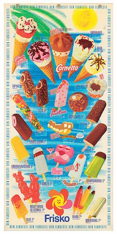 On Frisko's homepage you can download all their old ice cream posters thats nostalgia poor