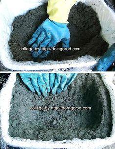 Вазоны из бетона для дачи и сада