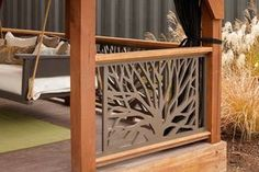 The Branches Panel brings nature into your porch or deck railings with its natural tree form design. The perfect choice for a cabin or outdoor retreat. Need a Sample of The Branches Panel? Order a sample Diy Deck, Diy Pergola, Pergola Ideas, Railing Ideas, Cheap Pergola, Patio Ideas, Deck Railings, Stair Railing, Laying Decking