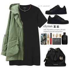 For crying out loud, settle down!  4 24 15 by isabellacamaylaneverson on Polyvore featuring Monki, MICHAEL Michael Kors, MARC BY MARC JACOBS, Charlotte Russe, Agnes de Verneuil, NARS Cosmetics, Calvin Klein, adidas and Chanel