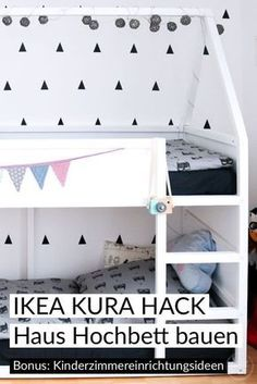 12 IKEA tricks for the IKEA tricks for the room. 12 IKEA hacks for the room. Ikea Hacks Furniture Ideas Kids room House loft bed building instructions (IKEA Hack) and some Ikea Kura Hack, Ikea Hack Kids, Toddler Rooms, Baby Boy Rooms, Bedroom Hacks, Kids Bedroom, Stairway Decorating, High Beds, Baby Room Decor