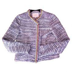 beaded tweed jacket