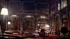 One day, I vow to have a library in my house as completely awesome and magical as Hogwarts. Reading Wallpaper, Hd Wallpaper, Macbook Wallpaper, Grand Canal, Library Drawing, Art Nouveau, Hogwarts Library, Home Library Design, Library Ideas