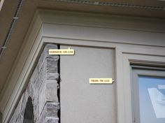 Design Idea: Do not like the way the rock meets the stucco. Exterior Trim, Exterior Design, House Trim, Cornice, Window Design, Craftsman, Ideal Home, Building A House, Garage Doors