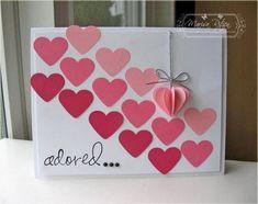 Valentine Cards Handmade EasyValentine Cards Valentines Card Design And Homemade Valentine Homemade Valentine Cards, Valentine Crafts, Valentine Day Cards, Homemade Cards, Valentine Ideas, Printable Valentine, Valentine Wreath, Valentine Heart, Paper Cards