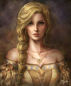 The Lost Princess by hanutella female princess queen necklace Faris Scherwiz Final Fantasy V FFV armor clothes clothing fashion player character npc | Create your own roleplaying game material w/ RPG Bard: www.rpgbard.com | Writing inspiration for Dungeons and Dragons DND D&D Pathfinder PFRPG Warhammer 40k Star Wars Shadowrun Call of Cthulhu Lord of the Rings LoTR + d20 fantasy science fiction scifi horror design | Not Trusty Sword art: click artwork for source