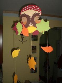 Őszi sünis dísz a gyerekszobába + sünis vers - Okos Anya kreatív gyermeknevelés
