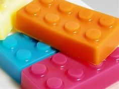 Bathtime = playtime with fun, colorful block soaps.
