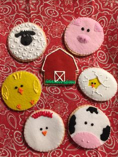 And in his FELT farm he had some...🐥🐷🐔🐮 Orders placed at FeltSewReal@aol.com