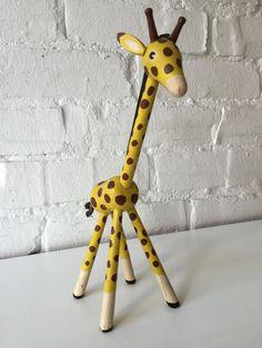 Vintage wooden Giraffe danish Design 1950's Mid Century Modern Kay Bojesen era in | eBay