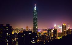 Download wallpapers Taipei 101, Xinyi District, Taipei, nightscapes, Taiwan, skyscrapers, China, Asia, Taipei World Financial Center