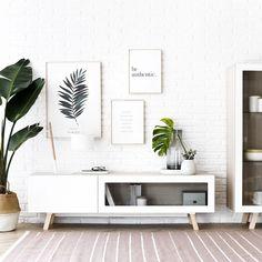 Malmo mueble TV Minimalist House Design, Minimalist Home, Dining Room Inspiration, Home Decor Inspiration, Room Interior, Home Interior Design, Decoration, Home Furniture, Bedroom Decor