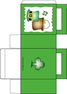 St. Patrick's Day Treat Bag, St. Patrick's, Favor Box - Free Printable Ideas from Family Shoppingbag.com
