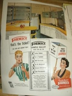 There's only one Formica - Vintage Ad #tbt