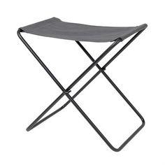 Nola stool canvas - grey-black base - Broste Copenhagen