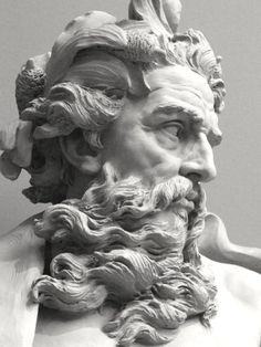 michelangelo sculpture Concept Modeling For Easy Clay Sculptures: Picture : Description Bust of Neptune by Lambert-Sigisbert Adam, Los Angeles County Museum of Art, Los Angeles, California. (Photo by mharrsch) -Read Easy Clay Sculptures, Sculpture Clay, Art Sculptures, Carpeaux, Greek Statues, Ancient Greek Sculpture, Angel Statues, Classical Art, Art Museum