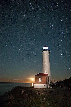 Moonrise at Crisp Point Light
