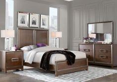 Cindy Crawford Home Newbury Park Merlot 8 Pc Queen Panel Bedroom