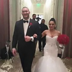 On November 14, 2015, WWE Superstar Randy Orton married Kim Rodriguez Kessler in Las Vegas. The couple dated for two years before getting engaged on vacation in Bora Bora. #WWE #Weddings