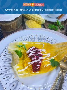 We're jazzing up the classic tamale with a Cranberry Jalapeno Relish. Recipe developed by Chef Christy Vega!