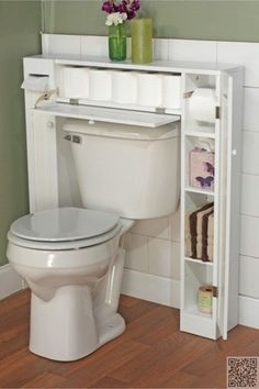 20 bathroom storage over toilet organization ideas. You have a small bathroom and you don't have idea how to design it? A small bathroom can look great and be fully functional as the large bathrooms. Over The Toilet Cabinet, Home Organization, Bathroom Storage, Diy Home Decor, Bathroom Decor, Home Diy, Bathroom Space, Over Toilet, Simple Storage