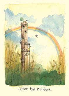 IF126 Over the Rainbow  A Two Bad Mice card by Fran Evans